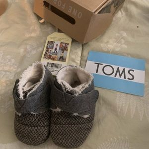 Baby Toms : Cuna Grey Felt Tweed